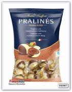 Конфеты из молочного и белого шоколада с ореховым кремом, Pralinen Duo mit Haselnusscremefullung 125 гр