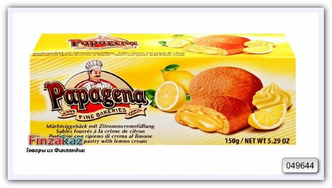 Песочное печенье с начинкой с ароматом лимона Biscuits mit Zitronencremefullung 150 гр