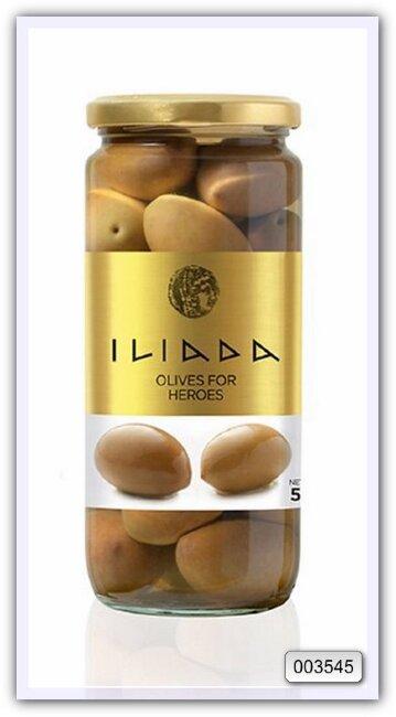 Греческие оливки Зеленые оливки «Голиаф с травами» Iliada 500 мл