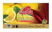Чай чёрный Mervin Ceylon Tea Lemon (Лимон) 20 шт