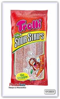 Кисло-сладкие полоски Trolli Sour Strips Cola 85 гр