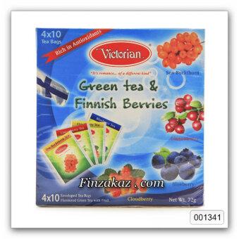 Чай Victorian Gree Tee Finnis Berries 40 шт