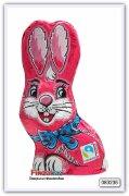 """Молочный шоколад фигурный """"сидящий кролик """" Only Sitting bunny pink - milk chocolate 60 гр"""