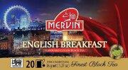Чай чёрный цейлонский Mervin Ceylon Musta tee English Breakfast 20 шт