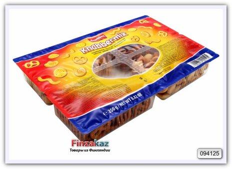 "Солёное печенье-ассорти ""Knabbermix""Snackline Snack mix 250 гр"