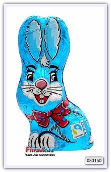 """Молочный шоколад фигурный """"сидящий кролик """" Only Sitting bunny blue - milk chocolate 60 гр"""