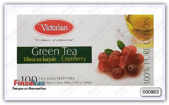 Чай Victorian (зелёный с клюквой) 100 шт