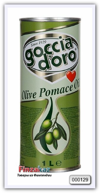 Оливковое масло GOCCIA d`ORO Olio di Sansa di Oliva рафинированное для жарки 1 л
