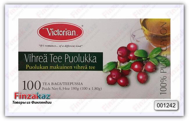 Чай Victorian (зелёный с брусникой) 100 шт