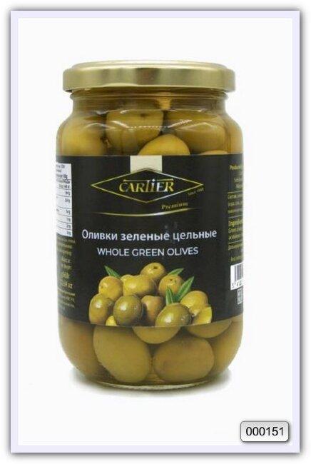 Оливки зеленые цельные Cartier 360/200 гр