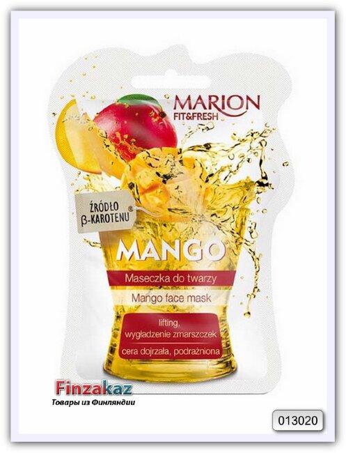 Маска для лица, шеи и декольте Marion Fit & Fresh Mango Face Mask (манго)
