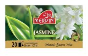 Зелёный чай цейлонский Mervin Ceylon Vihreä tee Jasmine (жасмин) 20 шт