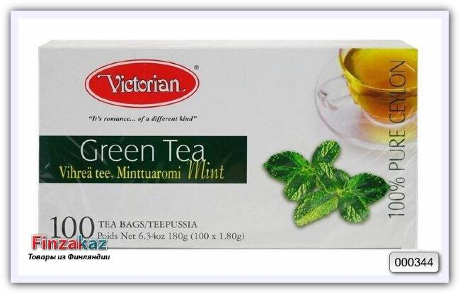 Чай Victorian (зелёный с мятой) 100 шт
