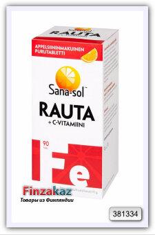 Комплекс Sana-sol Rauta (железо+витамин С) 90 табл