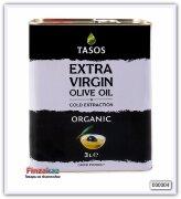 Масло оливковое Tasos extra virgin organic 3 л