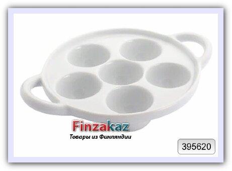 Керамическая тарелка для подачи улиток и устриц House