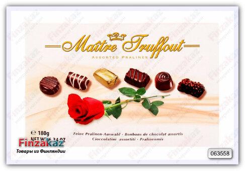 Шоколадные конфеты Maitre Truffout Pralines 180 гр