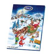 Шоколадный календарь ONLY Санта Клаус (синий) 75 гр