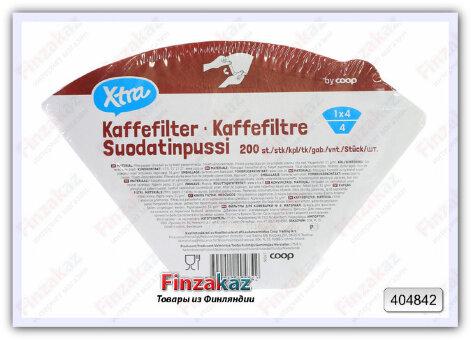 Фильтры для кофеварки X-tra №4 (белые) 200 шт