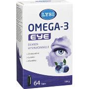 Витамины для глаз LYSI Омега-3 EYE с черникой 64 кап