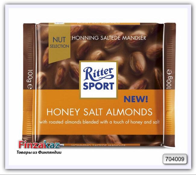 Шоколад Ritter Sport Honey Salt Almonds 100 гр