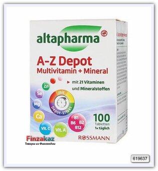 ALTAPHARMA A-Z Depot Multivitamin+Mineral пищевая добавка, 100табл