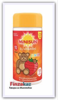 Мультивитамин Minisun (клубника) MINISUN D-VITAMIINI 10 MIKROG JUNIOR 100 шт