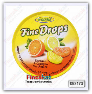Карамель леденцовая со вкусом лимона и апельсина Woogie 175 гр