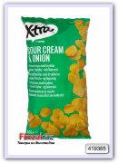 Картофельные чипсы со французским кремом и луком X-tra Sourcream & onion perunalastu 300 гр
