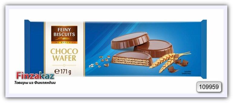 Вафли с какао - кремовой начинкой в молочном шоколаде 171 гр