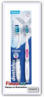 """Зубная щетка Dentalux """"Профессиональная"""" средняя, 2 шт"""