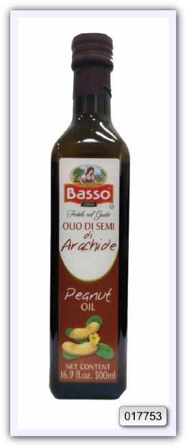 Масло арахисовое рафинированное Basso  peanut 500 мл