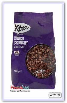Мюсли шоколадные обжаренные, X-tra, 500 гр