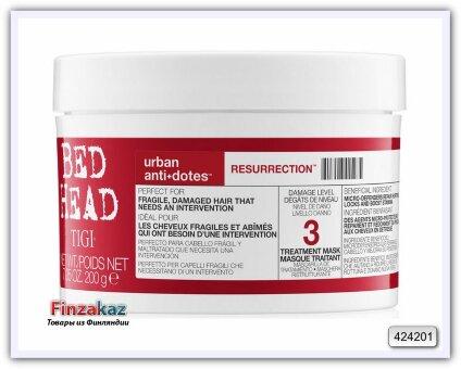 Маска для сильно поврежденных волос, 3 TIGI Bed Head Urban Antidotes Resurrection Treatment Mask 200 мл