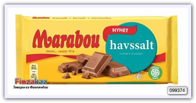 Шоколад молочный с морской солью Marabou Sea Salt Chocolate bar 185 гр