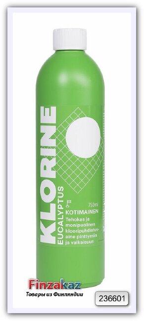 Эффективное и универсальное чистящее средство Klorin (с запахом эвкалипта) 750 мл