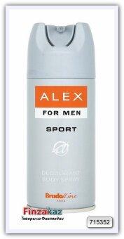 """Дезодорант-спрей для мужчин """"Sport"""" BradoLine Paris Alex, 150 мл"""