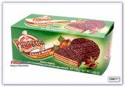 Вафли с кремовой начинкой со вкусом ореха в тёмном шоколаде 110 гр