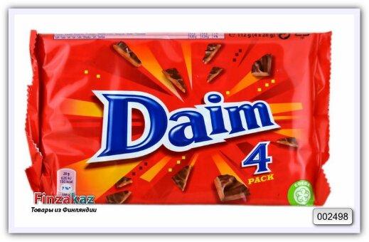 Конфета Daim 4 pack, карамель в шоколаде, 4х28 гр
