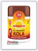 Мультивитамин Minisun (кола) MINISUN D-VITAMIINI 20 MIKROG 200 шт