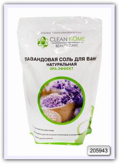Лавандовая соль для ванн натуральная Clean Home SPA-эффект 1 кг