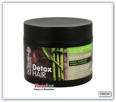 Маска для интенсивного восстановления истощенных волос Dr. Sante Detox Hair Бамбуковый уголь 300 мл