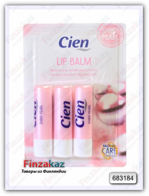 Гигиеническая губная помада Cien (блестящий жемчуг) 3 шт