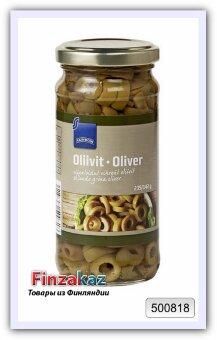 Оливки зеленые резаные Rainbow 235 гр
