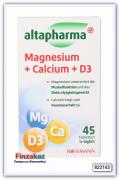"""Пищевая добавка Altapharma с магнием, кальцием и витамином """"D3"""" 45 таб"""
