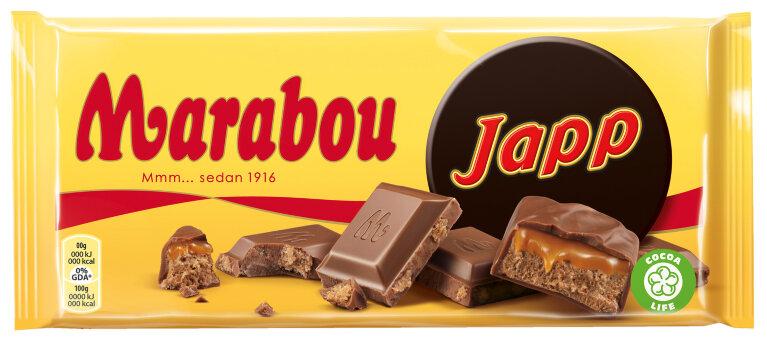 Молочный шоколад Marabou Japp 185 гр