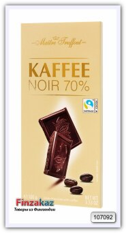 Темный шоколад с кофе Maitre Truffout 100 гр