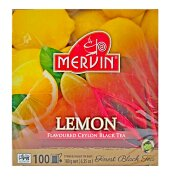 Чай чёрный Mervin Ceylon Tea Lemon (Лимон) 100 пак