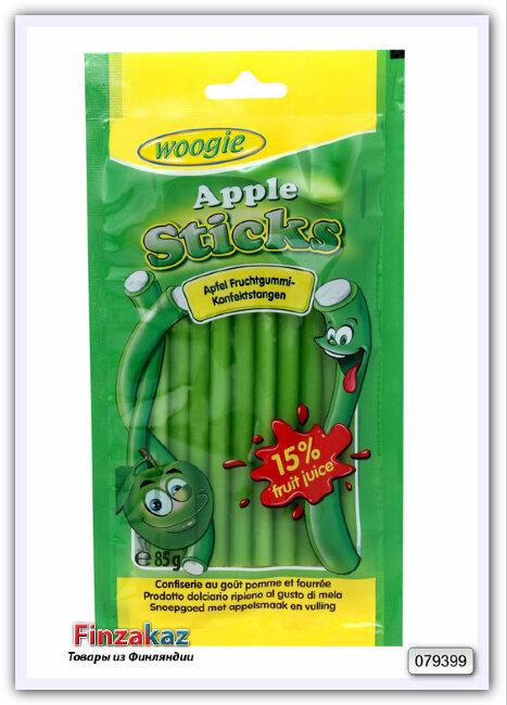 Жевательные конфеты со вкусом яблока Woogie (трубочки) 85 гр