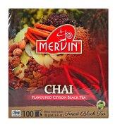 Чай чёрный Mervin Ceylon Musta tee Chai (кардамон, корица, гвоздика) 100 пак